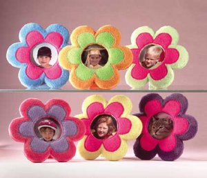 Plush Flower 3x3 Photo Frames