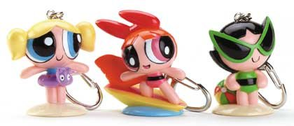 Powerpuff Girls PVC Keychains