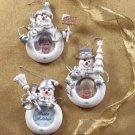 Snowman Photo Frame Ornaments