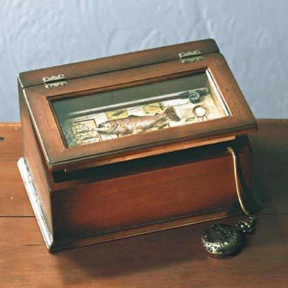 Wood Fishing Motif Shadowbox