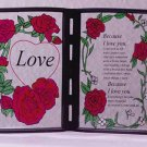 "Simulated Stained Glass ""Love"" Plaque"
