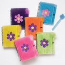 Soft N Fuzzy Flower Notebooks