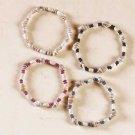 3-Dozen Shell and Wood Bead Bracelets