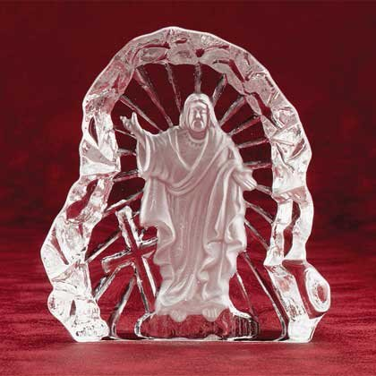Clear Glass Carved Jesus