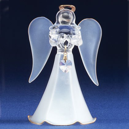 Glass Angel With June Birthstone