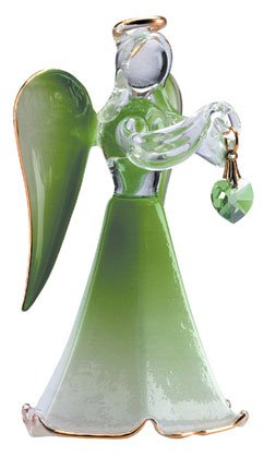 Glass Angel With August Birthstone