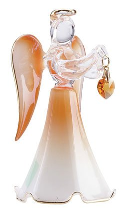 Glass Angel With November Birthstone