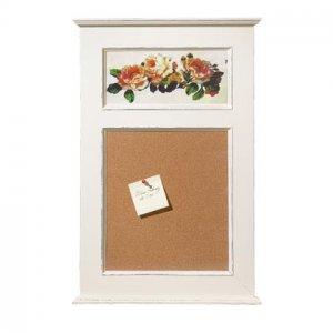 Shabby Floral Wood Corkboard