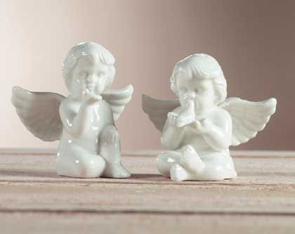 Porcelain Cherubim Salt & Pepper Shakers