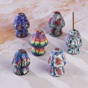 Assorted Fimo Incense Holders - Mushroom-Shaped