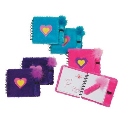 Fuzzy Heart Notebook Set