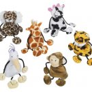 Plush Animal Coin Purse Keychains