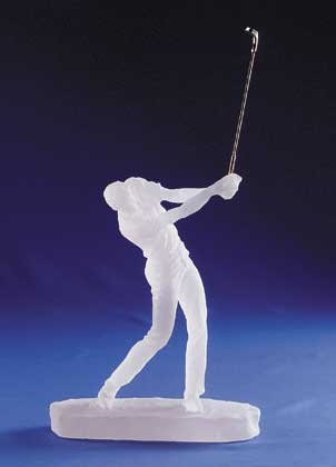 Frosted Sculpture - Golfer