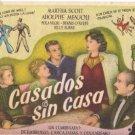"""MARTHA SCOTT, ADOLPHE MENJOU"" 1943 SPANISH HERALD 4379"