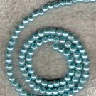 100 Pcs 4mm Aqua Baby Blue Glass Pearl Beads