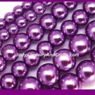 75 Pcs 6mm Quality Glass Pearls - Purple