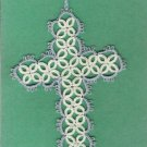 Tatted Cross Bookmark BEAUTIFUL HANDCRAFTED WORK - GTC3325