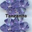6 Pcs 8MM Tanzanite Swarovski Crystals 5301 Bicone
