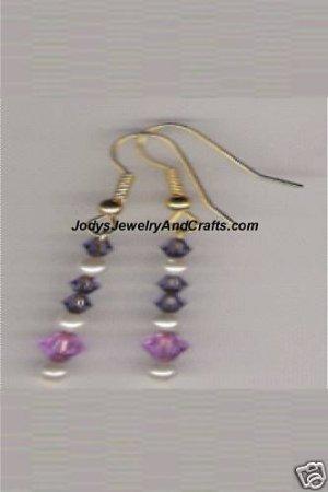 HANDCRAFTED Swarovski Crystal-Violet Tanzanite Earrings