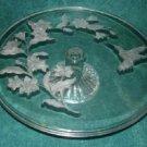 Avon Crystal Hummingbird Cake Plate 24% Lead Crystal