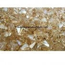 25 Pcs 4MM Crystal Golden Shadow Swarovski 5301 Bicone