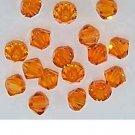 25 Pcs 4MM Sun Swarovski Crystals 5301 Bicone