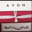 Avon Jeweltone Tennis Bracelet In Gift Box - Red