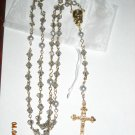HANDMADE Light Gray Crystal Rosary ROS211LTGR