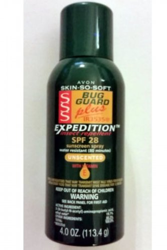 Avon SSS Bug Guard Plus IR3535 Expedition SPF 28 Sunscreen Spray