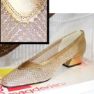 Gold Lame wNet Ballet Pumps by Magdesians - Retail $89 - YOUR PRICE $9.99 - sz 7 AA
