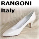 Simply Chic White Pumps by Rangoni Italy - Retail $136 - YOUR PRICE $22.99 - sz 9.5 AAA