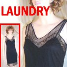 Black Layered Slip Dress by Laundry Shelli Segal - Lacey - Retail $184 - YOUR PRICE $24.99 - sz 6