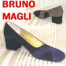 Bruno Magli Grape Black Brown Suede Pumps - Retail $299 - YOUR PRICE $44.99 - 7 AAAA