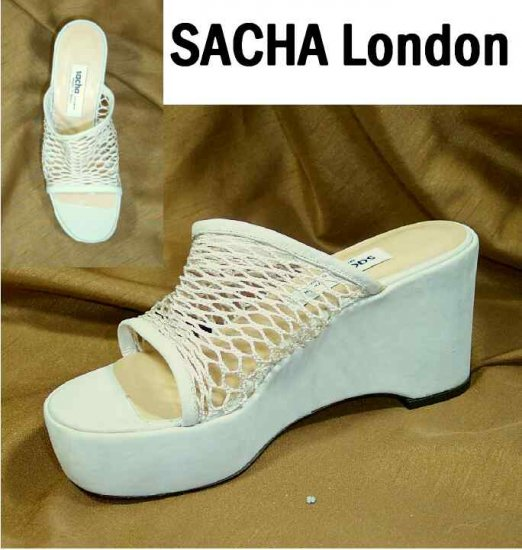 Sacha London Clog Wedge Slides Pumps - Bone - Retail $109 - YOUR PRICE $17.99 - 6 B