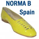 Mod Neon Yellow Patent Flats EMO by Norma B - Retail  $108 - YOUR PRICE $12.99 - 9