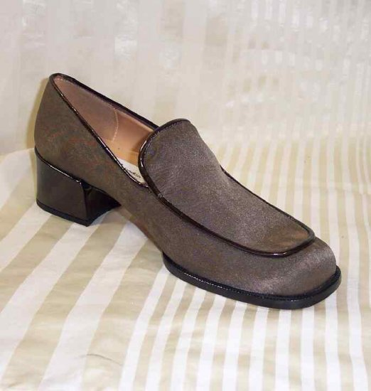 Sacha Satin wPatent Loafers in Latte Brown - Retail $110 - YOUR PRICE $18.99 - sz 6.5