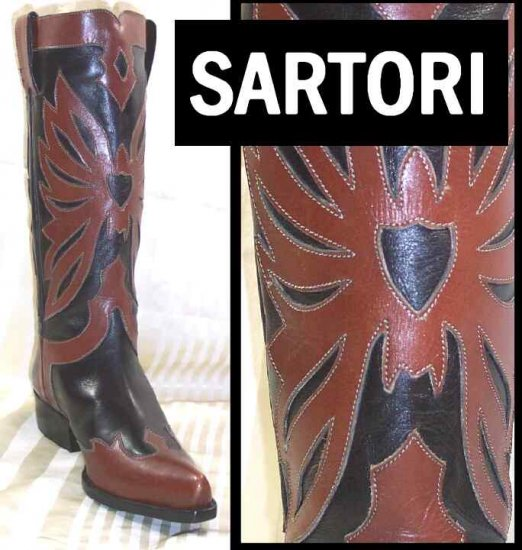 Incredible Western style boots by Sartore Paris - Retail $765 - YOUR PRICE $169.99 - sz 6.5