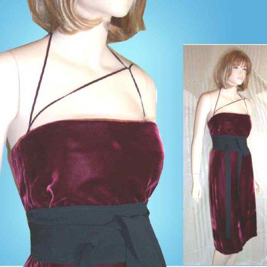 Calvin Klein Burgundy Velvet Cocktail Dress - Your Price $49.99 - Retail $328 - sz 8