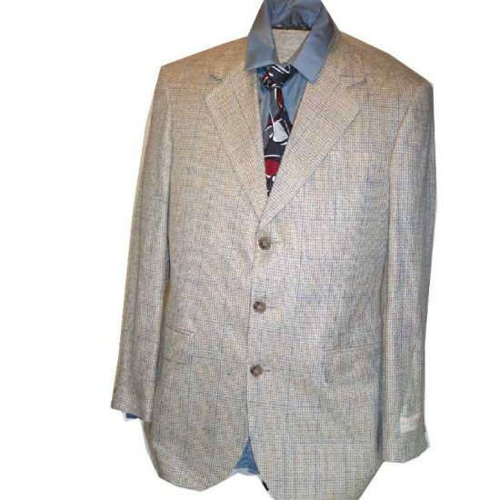 Haggar Linen Blend Houndstooth Sport Coat - Your Price $29.99 - Retail$199 - 38R