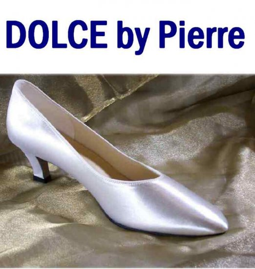 80s White Satin Pumps - Unworn- by Dolce USA - Retail $69 - YOUR PRICE $12.99 - sz 9