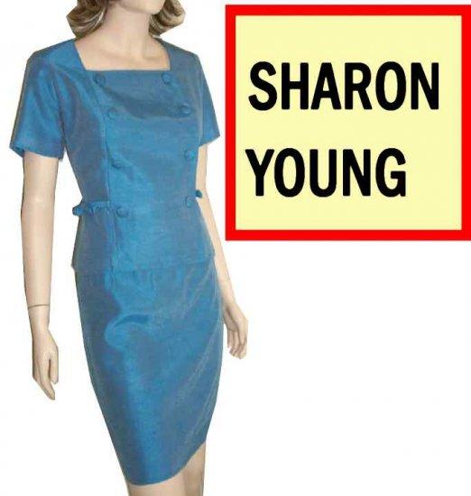 Sharon Young Ocean Blue Mod Suit - Satiny - $24.99 - Retail $158 - sz 10