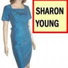 Sharon Young Ocean Blue Mod Suit - Satiny - $24.99 - Retail $158 - sz 10