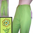 David Albow Lime Capris pants wRhinstone accent - $16.99 - Retail $130 - sz 6