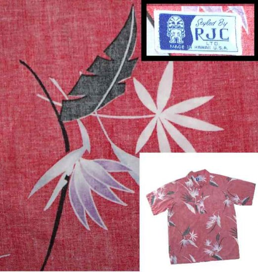 60s RJC Reverse Print Hawaiian Shirt - Perfect $9.99 - sz M