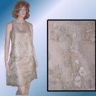 Beige Layered Lace 2pc Tent Dress by Revue - $24.99 - Retail $210 - sz 6
