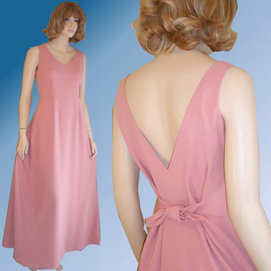 Nicole Miller Queenly Gown wLow Back in Dusty Pink - Your Price $54.99 - Retail $311 - sz 10