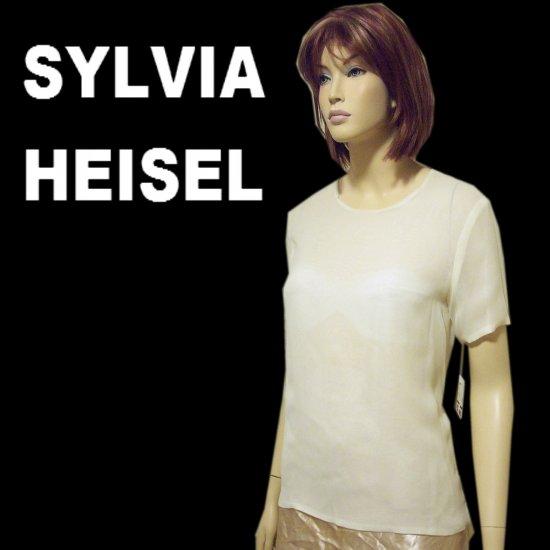 Sylvia Heisel Silk Chiffon Haute Couture Blouse - $39.99 - Retail $330 - sz 6