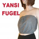 Chamois Suede Tube Top Camisole by Yansi Fugel * Small $24.99 - Retail $245
