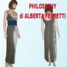 Philosophy di Alberta Ferretti * Silver-Gray Velvet Gown * sz 6 * $99 * Retail $630