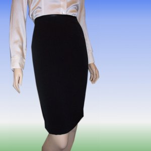 Canvasbacks * Black Tuxedo Skirt * sz 8 * $11.99 * Retail $138